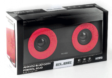 PACKAGING ELEBE ALTAVOCES ROJO Y NEGRO