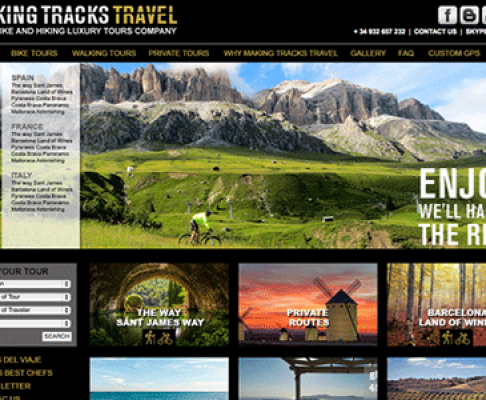 REDISEÑO WEB MACKING TRACKS TRAVEL